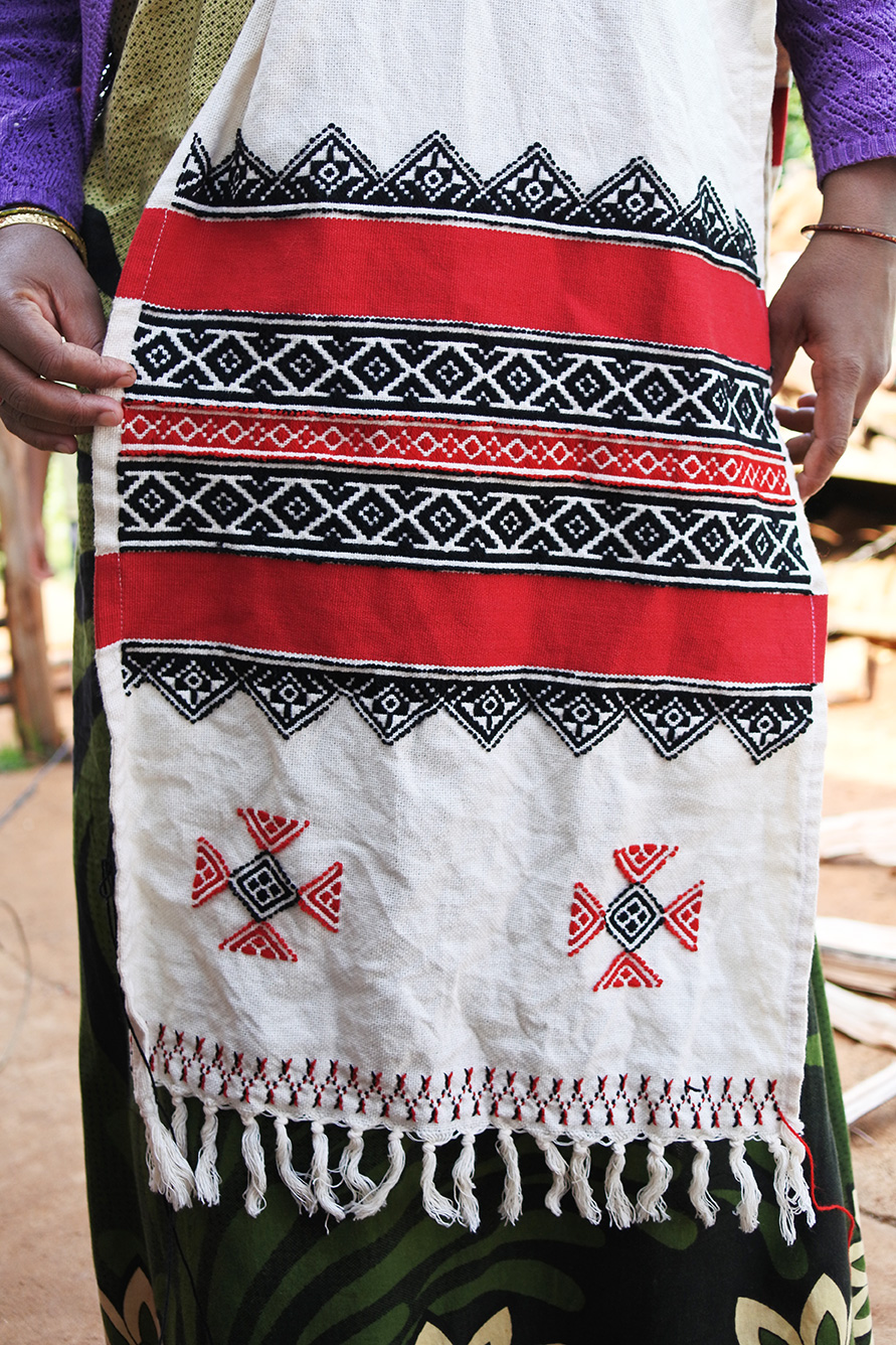 トダ族の刺繍のショール