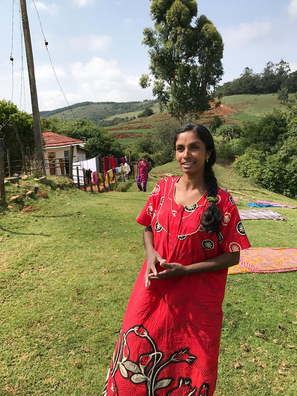 トダ族の美しい女性