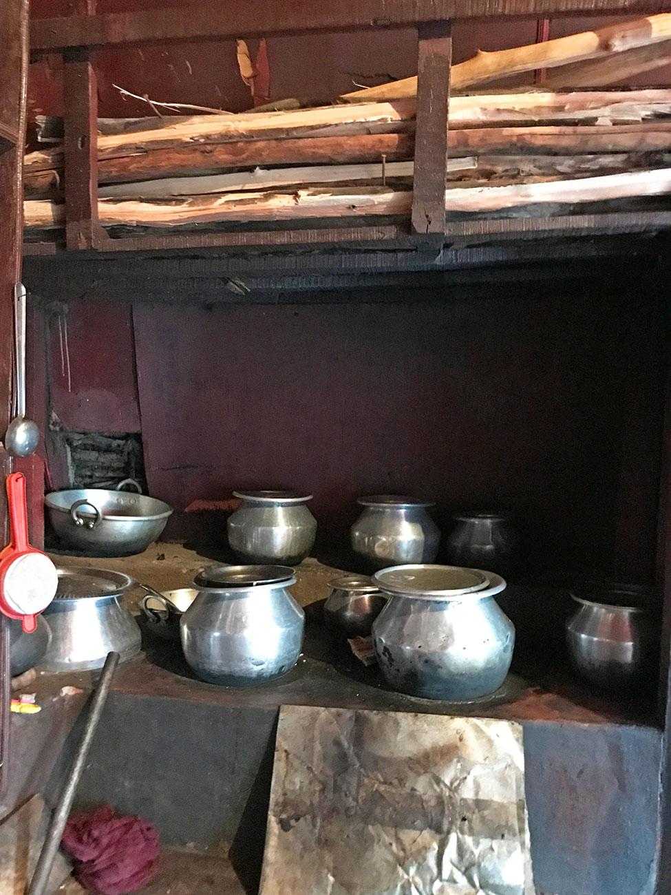 トダ族の一般家庭、キッチン