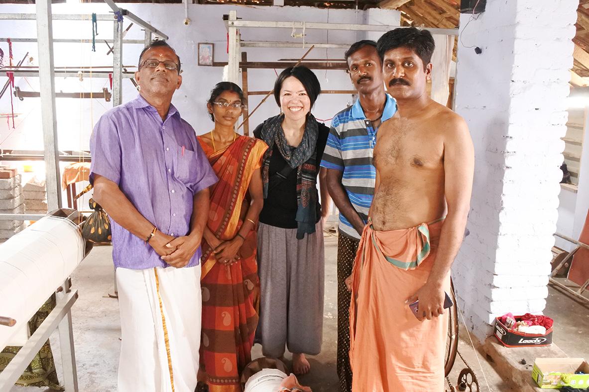 インドでの服装、ショール、型崩れしない