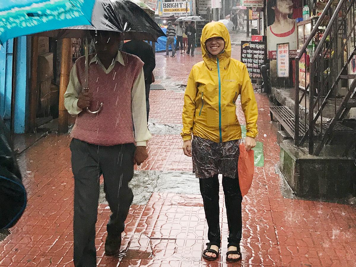 インドで着ていた服。雨具編