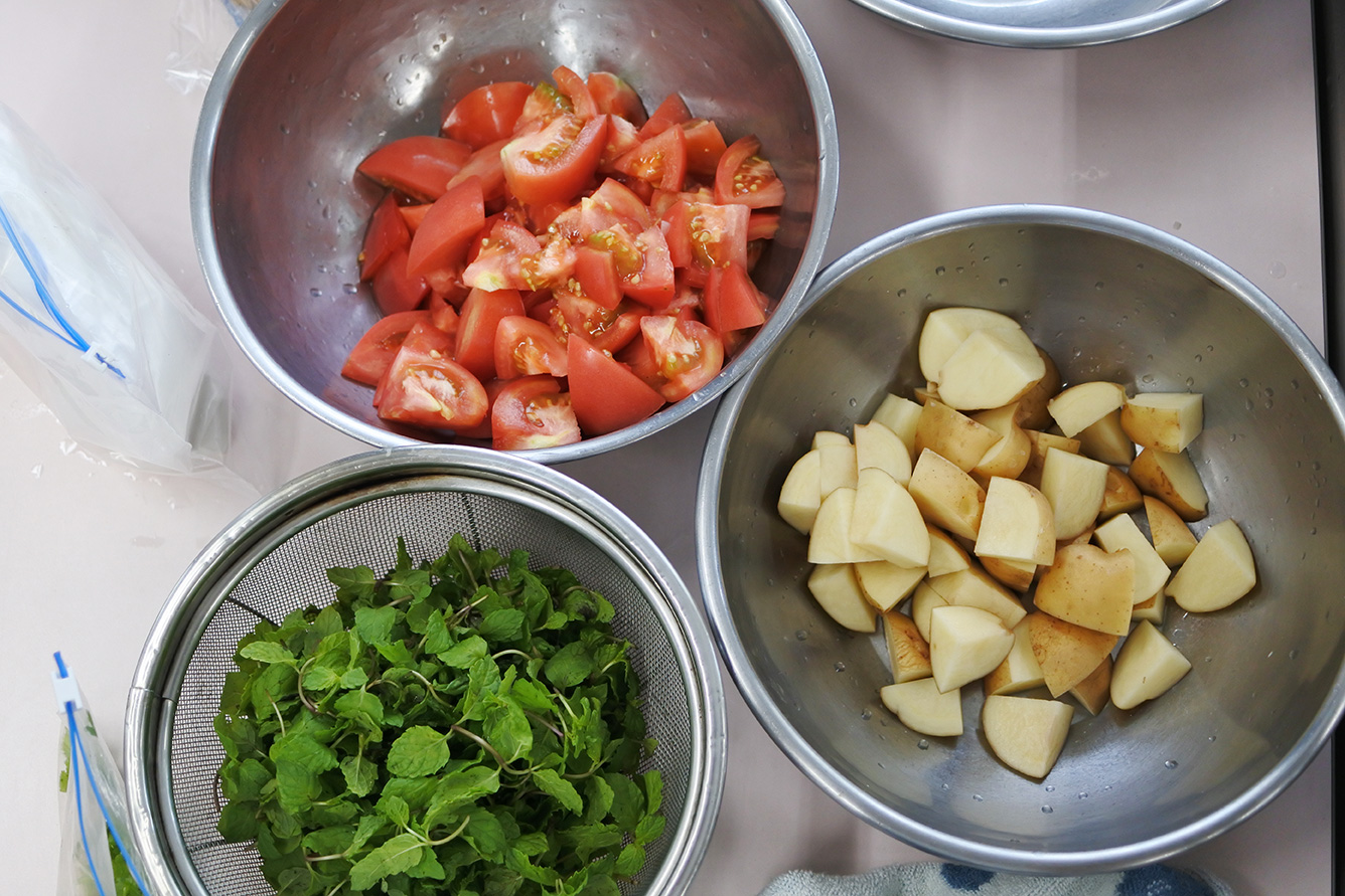 印度料理研究会 カットしたお野菜