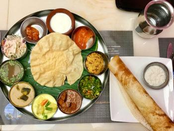 南インド料理シリバラジのベジタリアンターリ