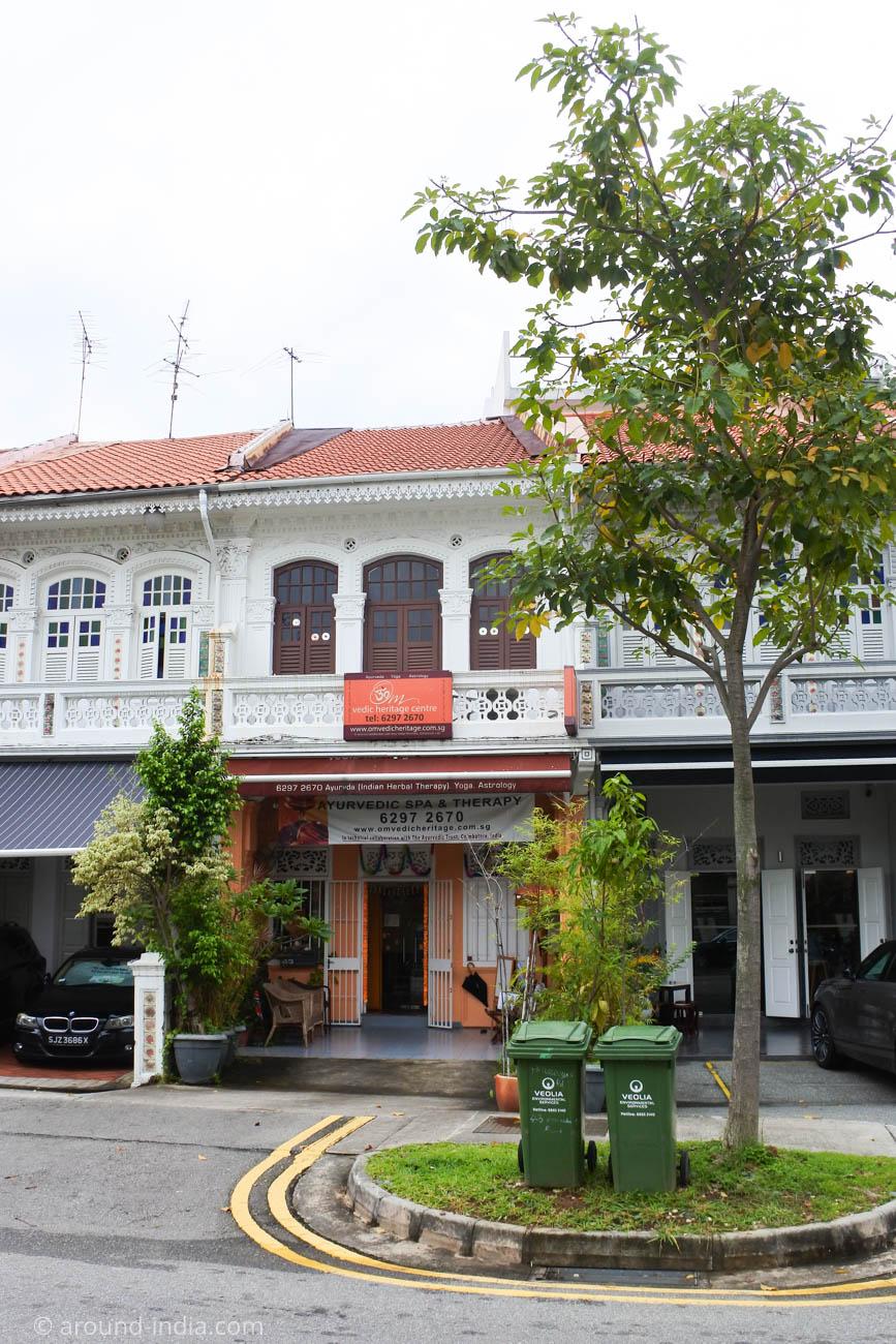 シンガポールのアーユルヴェーダ施設 Om Vedic Hertage center 外観
