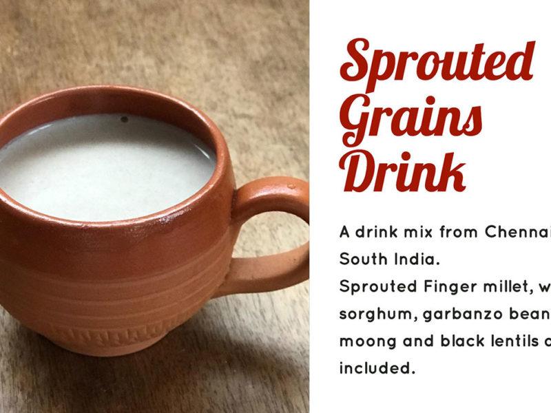インドの発芽穀物ミルク