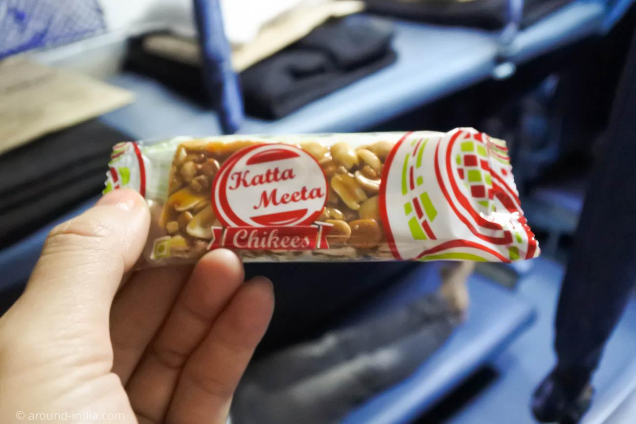 マンガロール駅でおつりにもらったお菓子