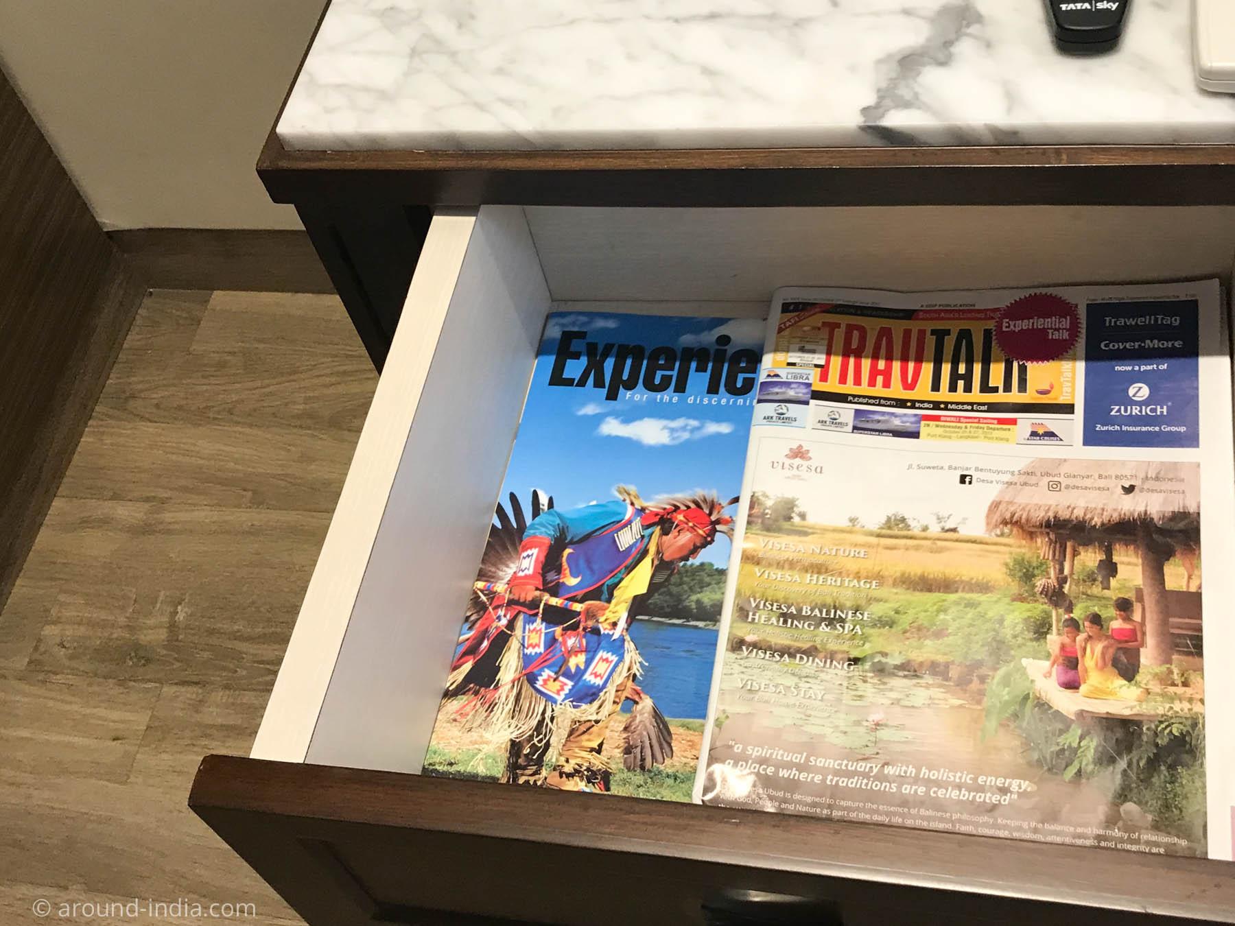 Residency Hotel Fortの引き出しに入っていた旅行雑誌
