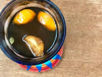 金柑ジャガリーのぬるま湯割