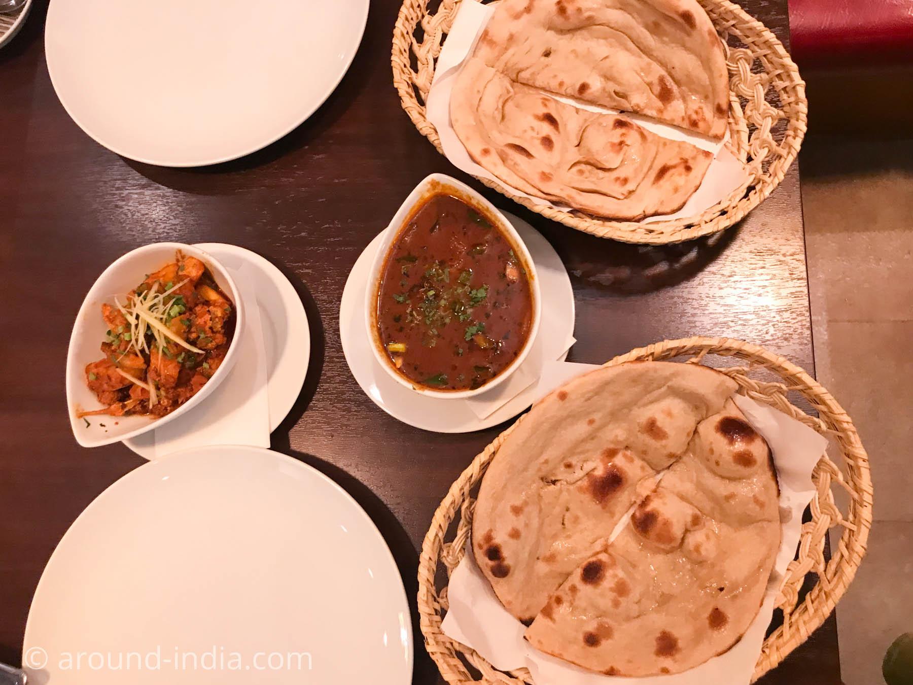 横浜中華街のインド料理店ナクシャトラ お料理
