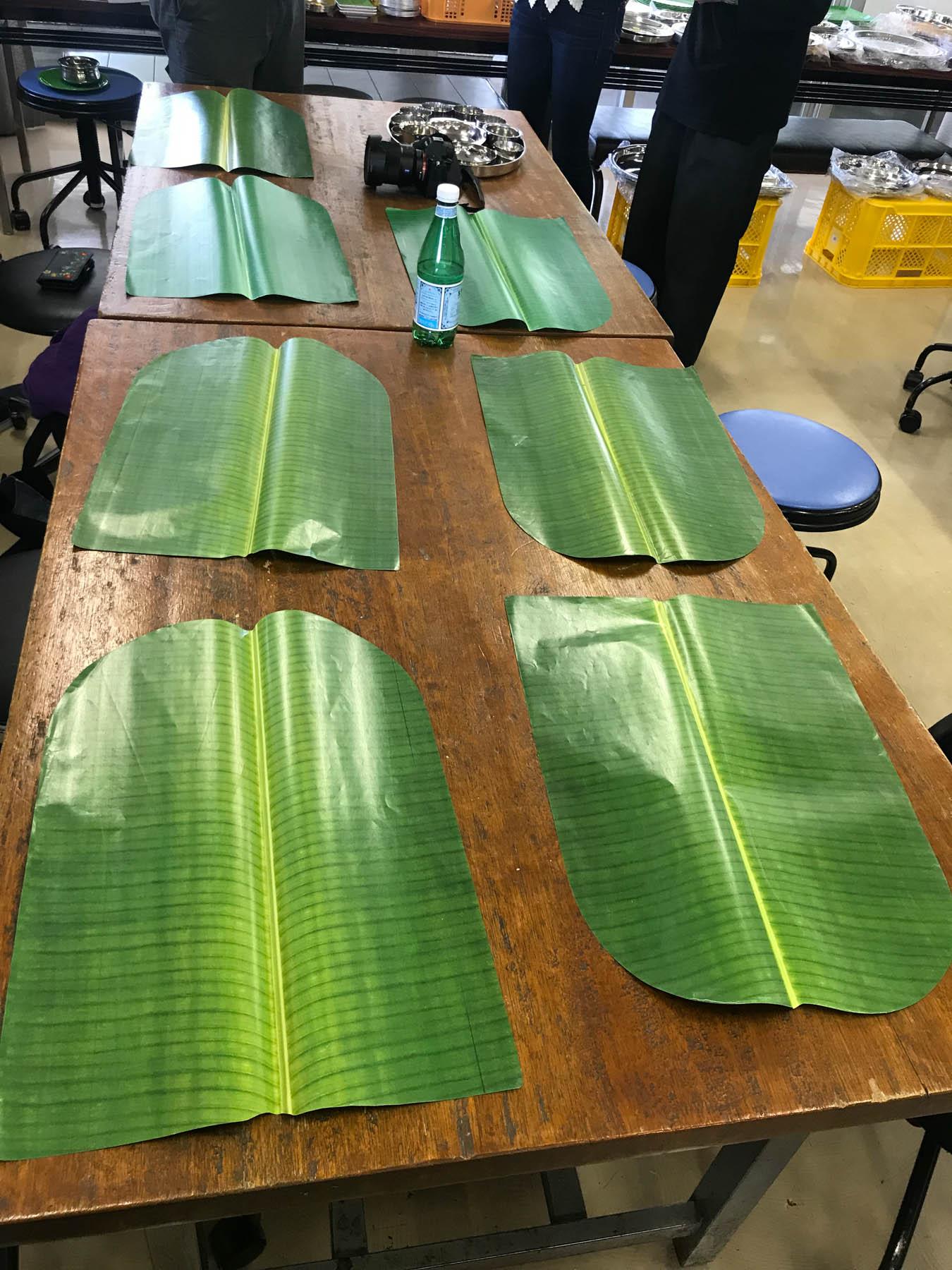第26回印度料理研究会ミールス バナナの葉っぱペーパー皿
