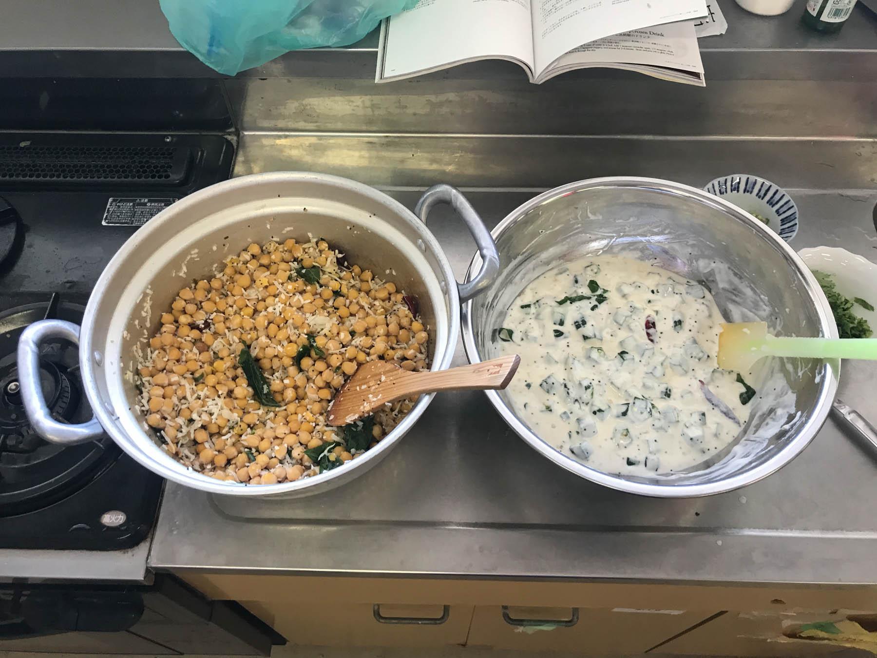 第26回印度料理研究会ミールス タイールパチャリとチャナスンダル