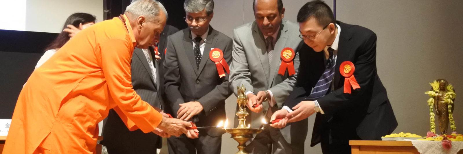 第一回インド政府AYUSHセミナー ランプを灯す