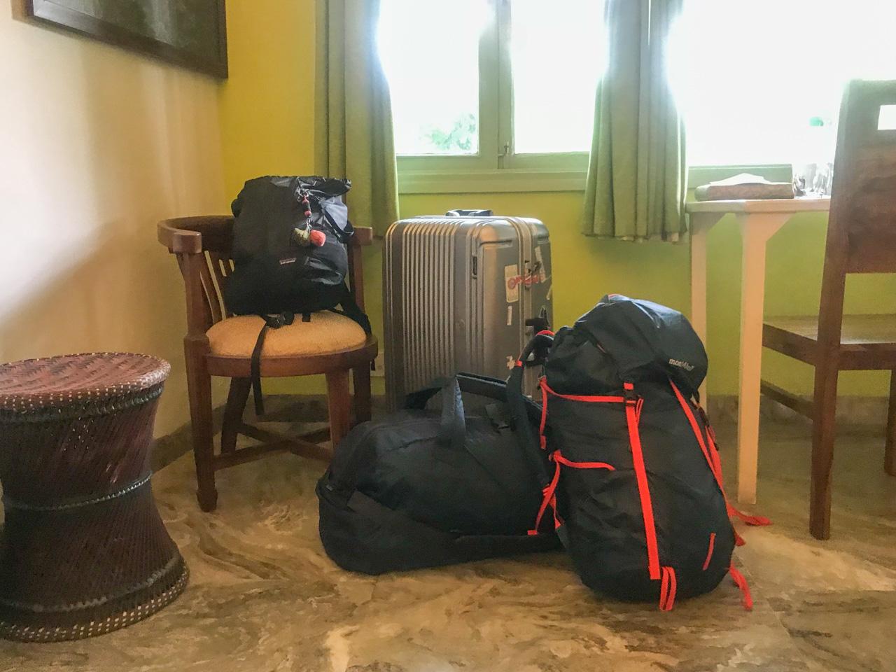 インド旅の持ち物 ・スーツケース バックパック
