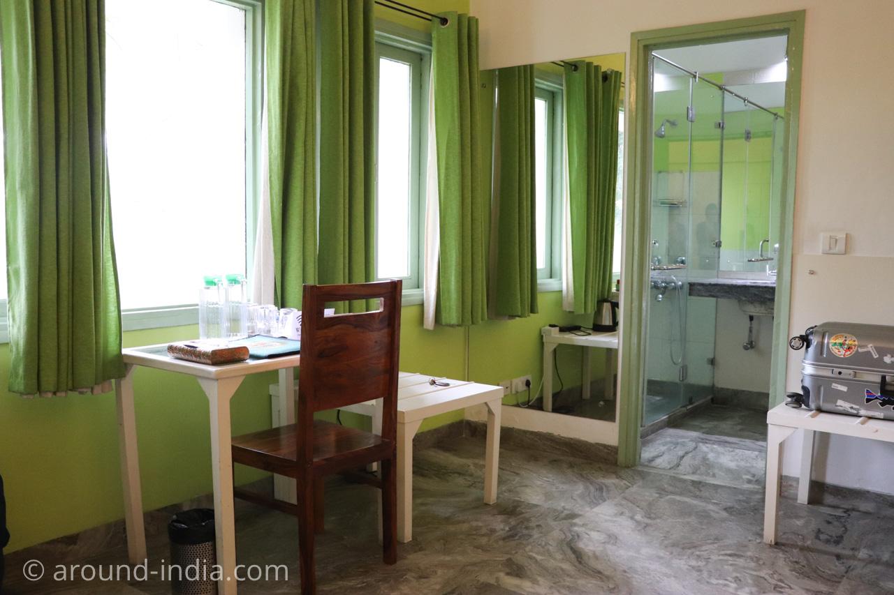 デリーのホテルHaveli Hauz Khasの部屋ニームルーム