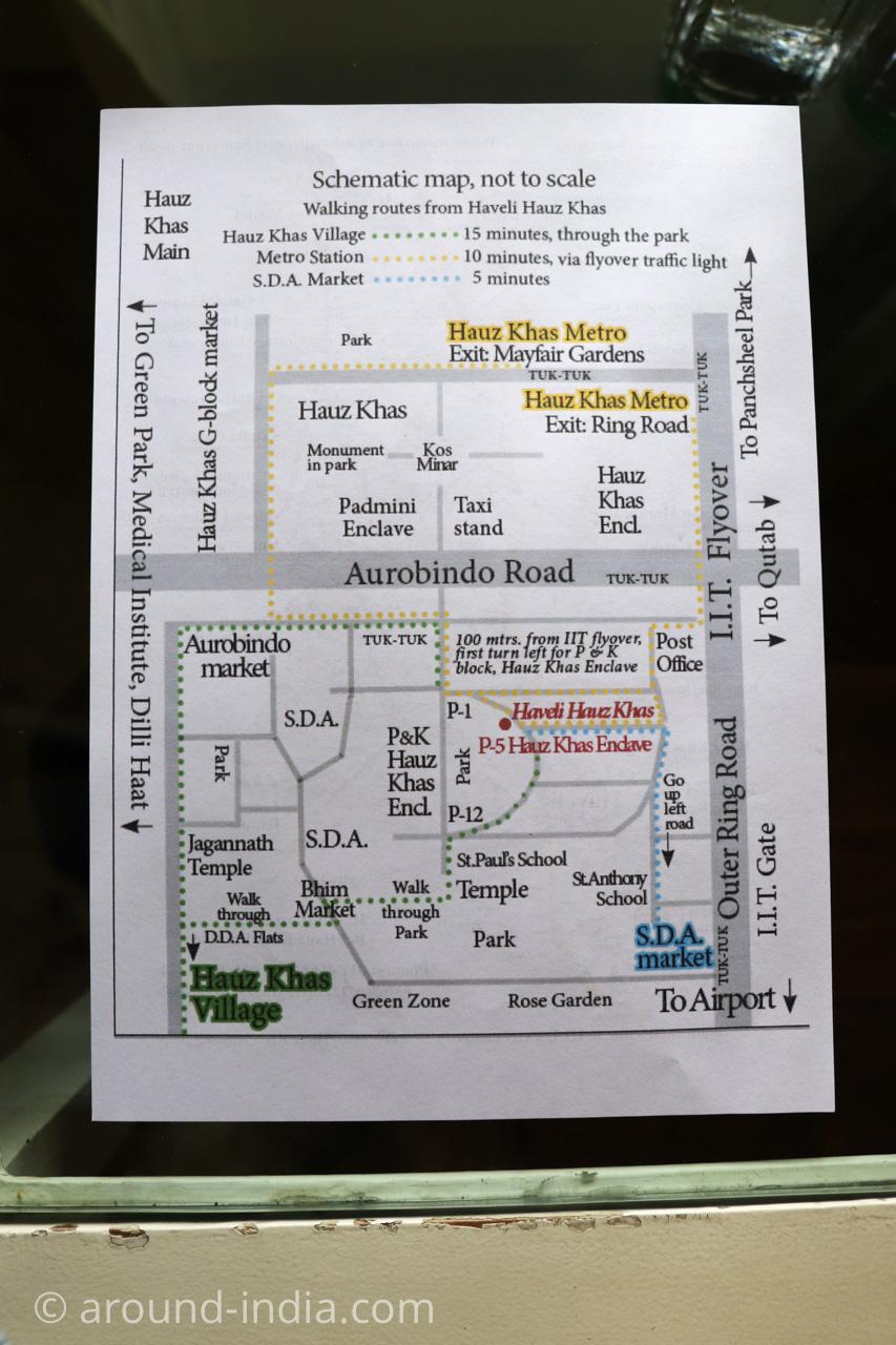 デリーのホテルHaveli Hauz Khasのマップ