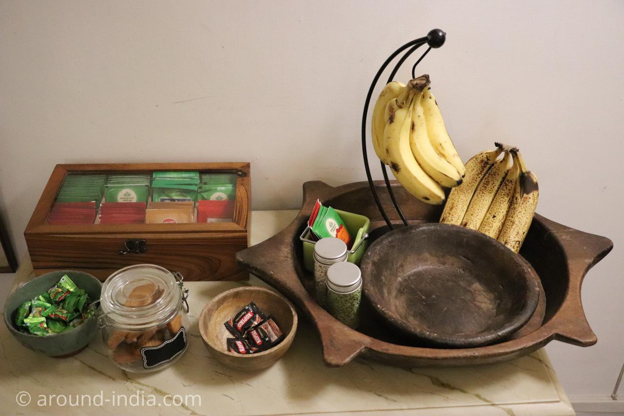 デリーのホテルHaveli Hauz Khasのお茶セット