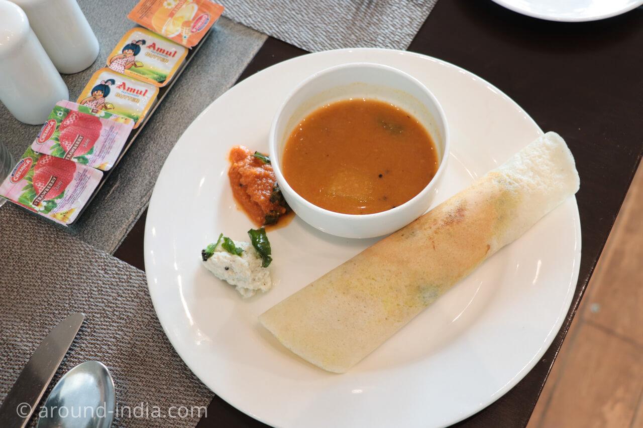 インド・デリーのホテル The Grand New Delhi マサラドーサ
