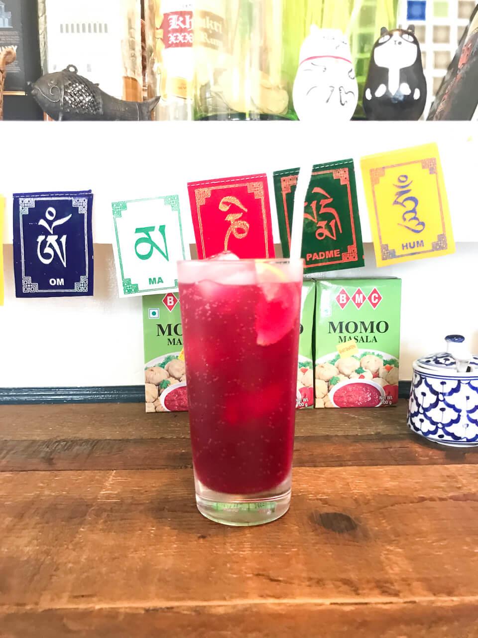 鎌倉のネパール料理ジジコ 赤シソジュース