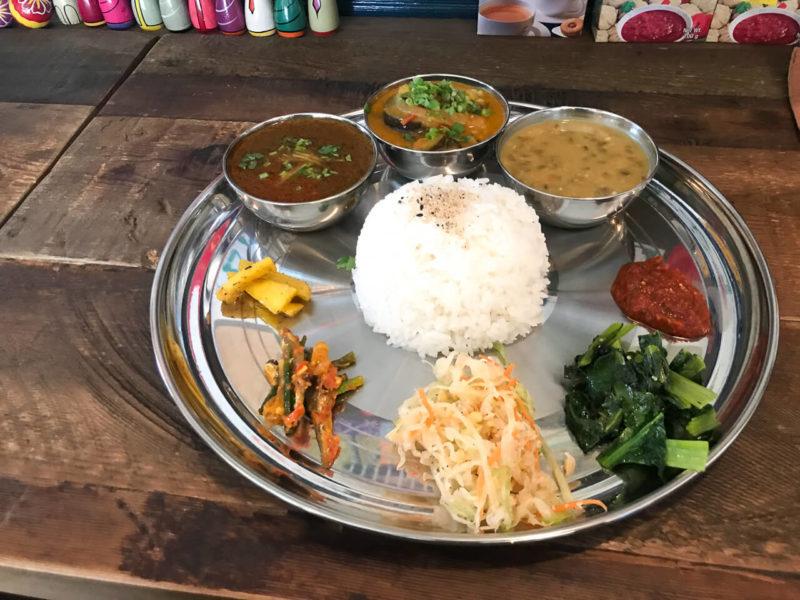 鎌倉のネパール料理ジジコ ダルバート ランチ タルカリ
