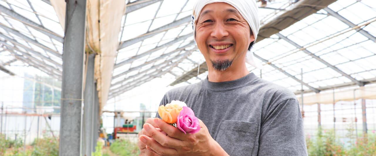 無農薬バラ 横田園芸 横田さんとバラ
