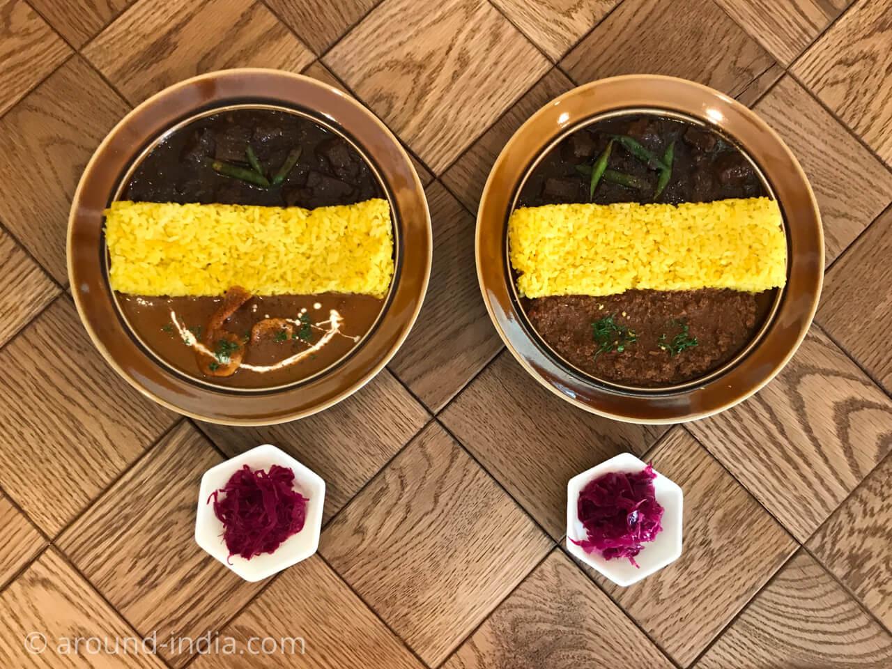 鎌倉のzushi curry 2種盛り