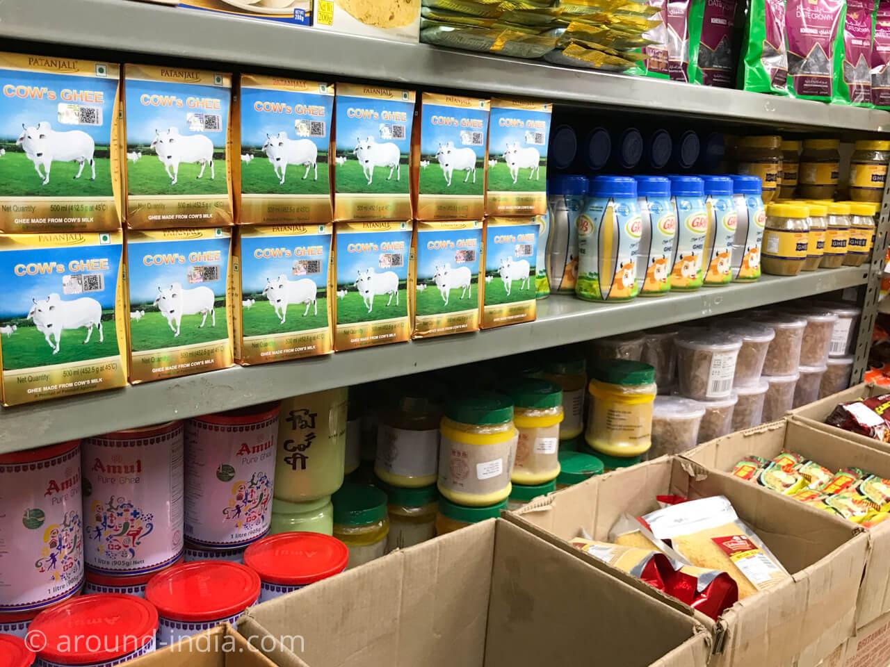 蒲田のインド食材店インドバザール ギーコーナー