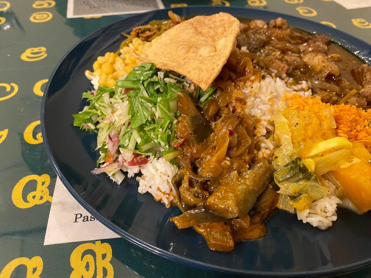 さがみ野のロイヤルグリーン、スリランカ料理
