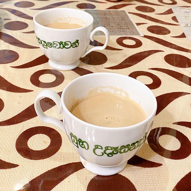 さがみ野のスリランカ料理 ロイヤルグリーンのミルクティー