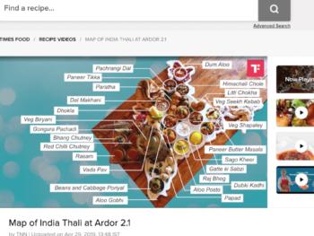 Ardor 2.1のUnited India Thali