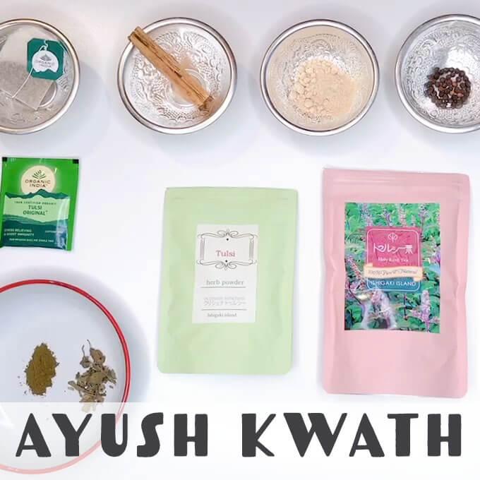 感染者ゼロ!?インド伝統医学省AYUSHがすすめる、家庭で作れるコロナ予防茶の素「Ayush Kwath」