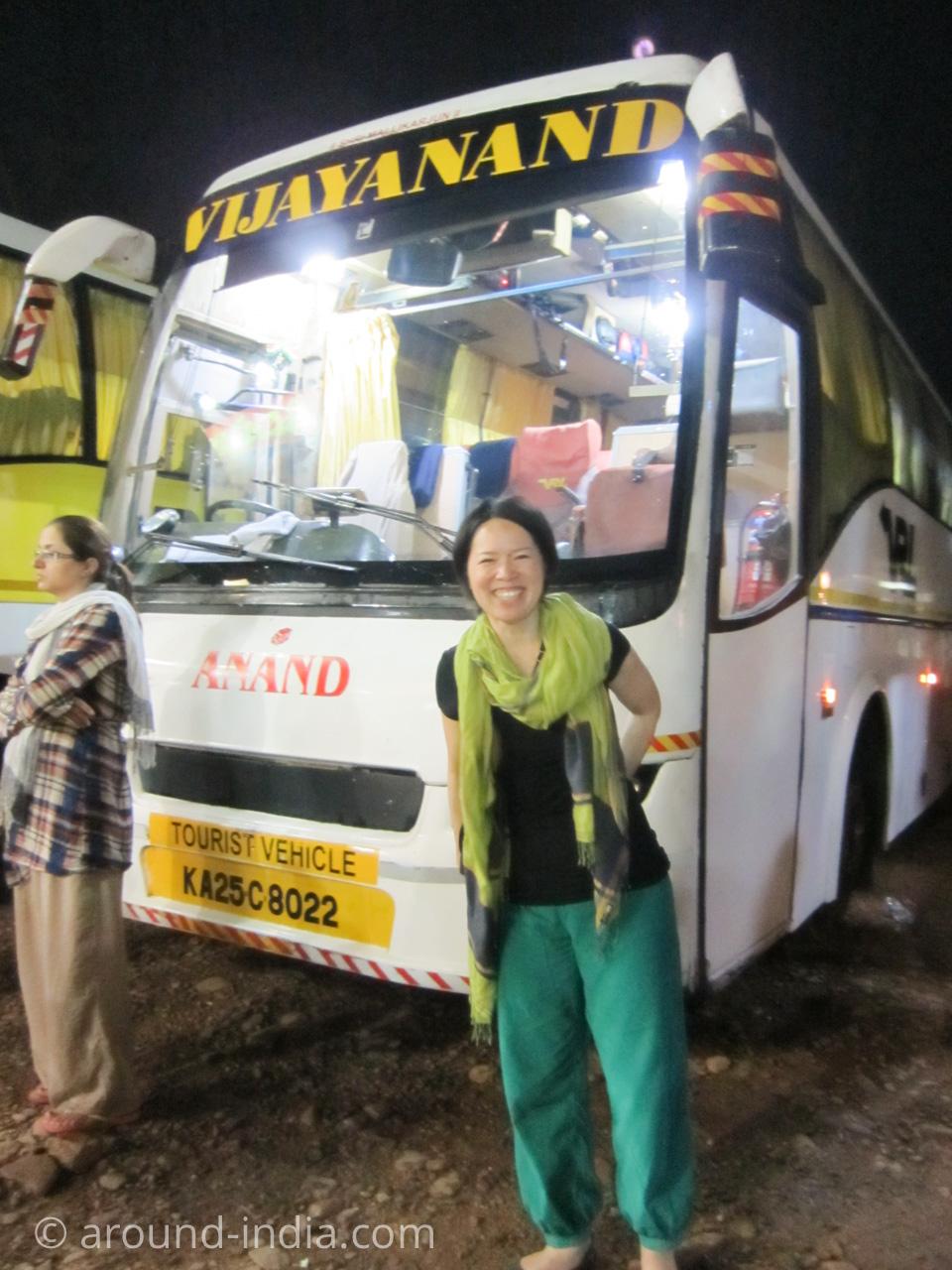 インドの長距離バスとAROUND INDIA田村