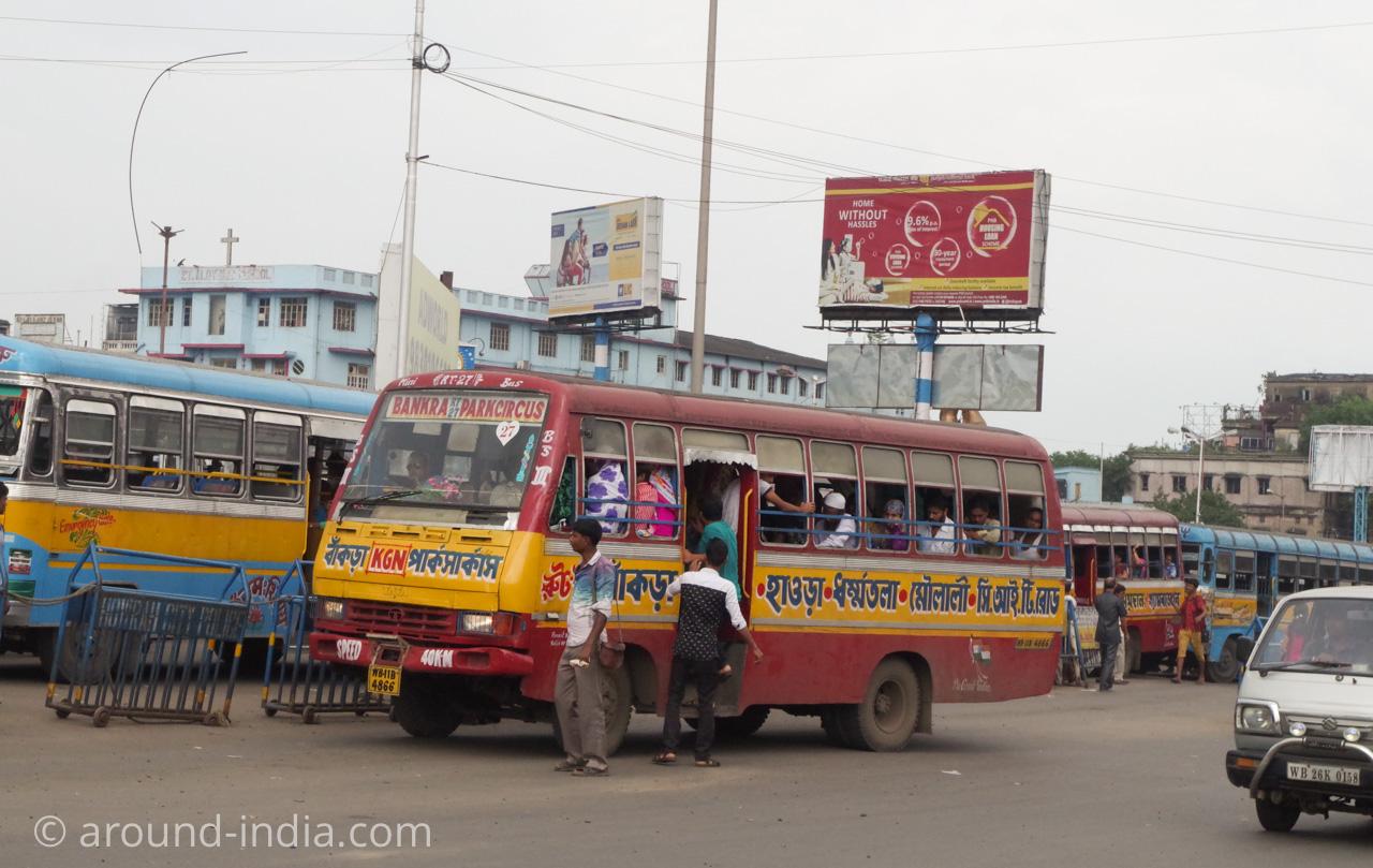 コルカタのちょっと小さめバス