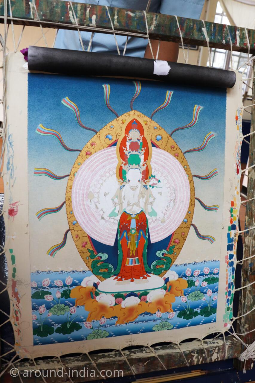 ダラムサラのノルブリンカチベット芸術 タンカ