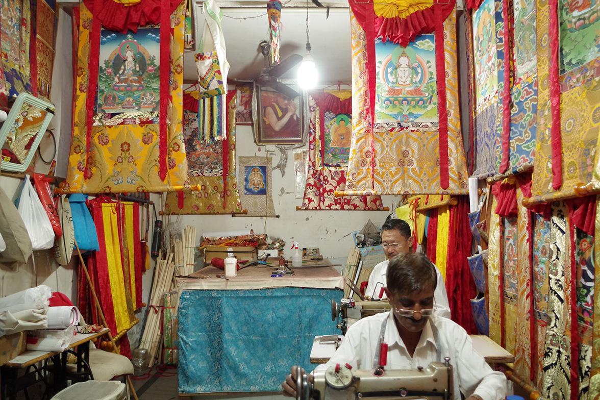 チベット仏教のタンカ。デリー