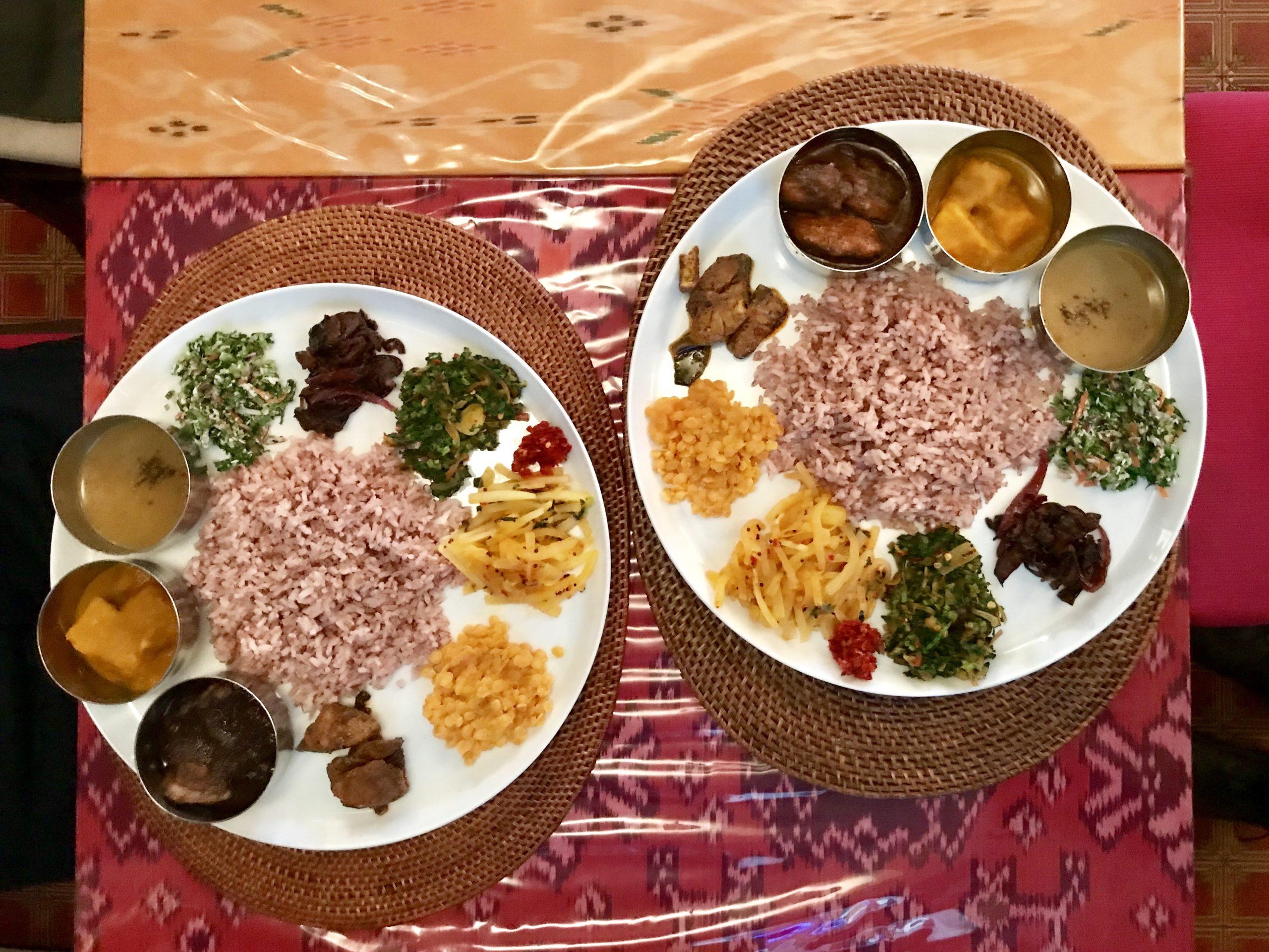 水戸のスリランカ料理コジコジ スリランカプレート チキンとポーク