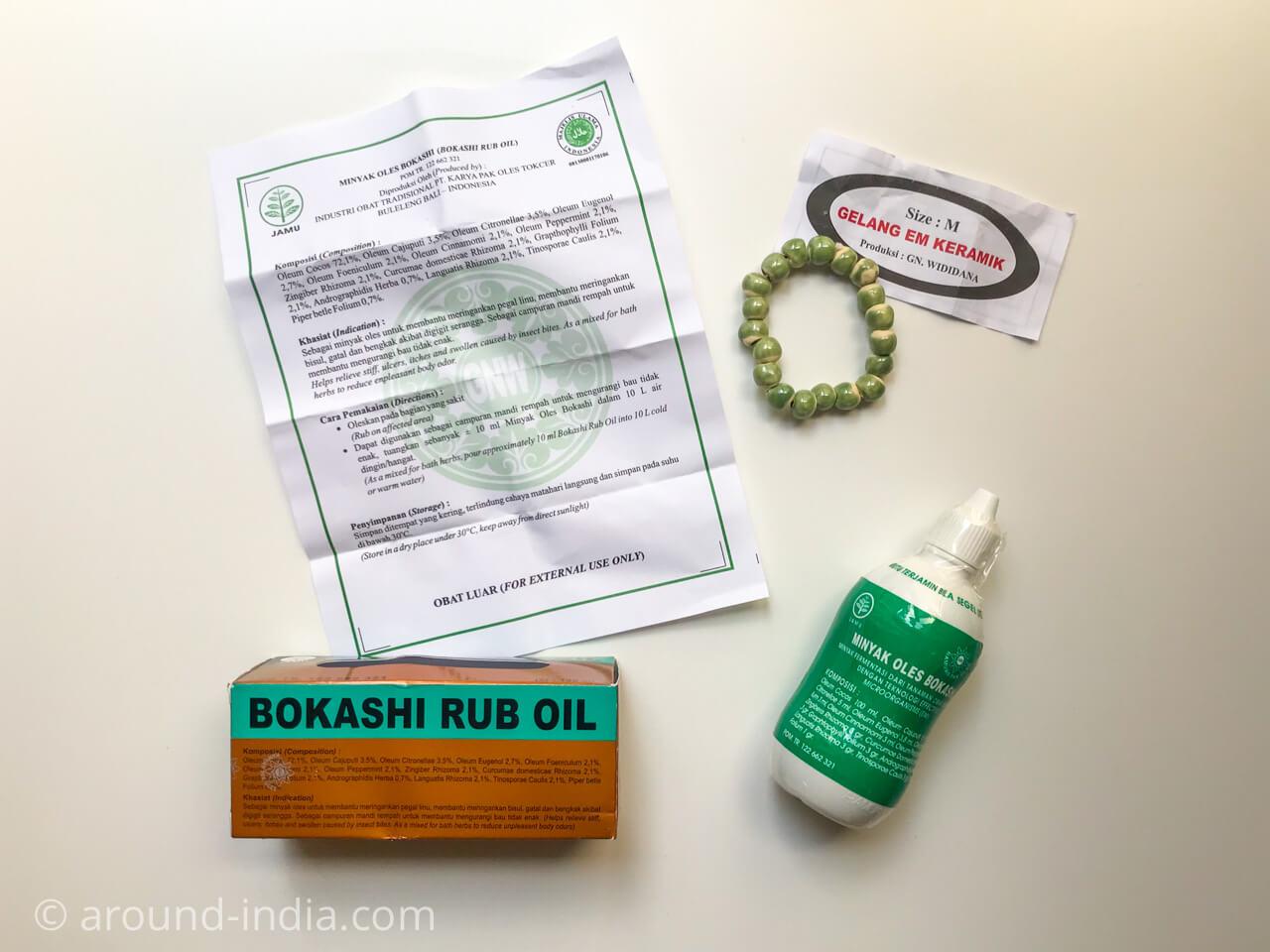 アーユルヴェーダの仲間たち:バリ島のジャムゥ「ボカシオイル Bokashi oil」とは?