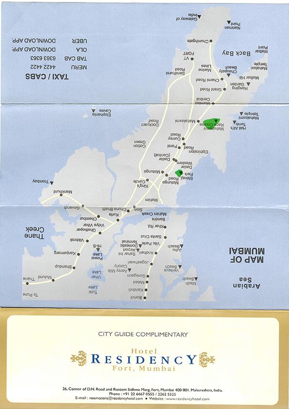 レジデンシーホテルの地図