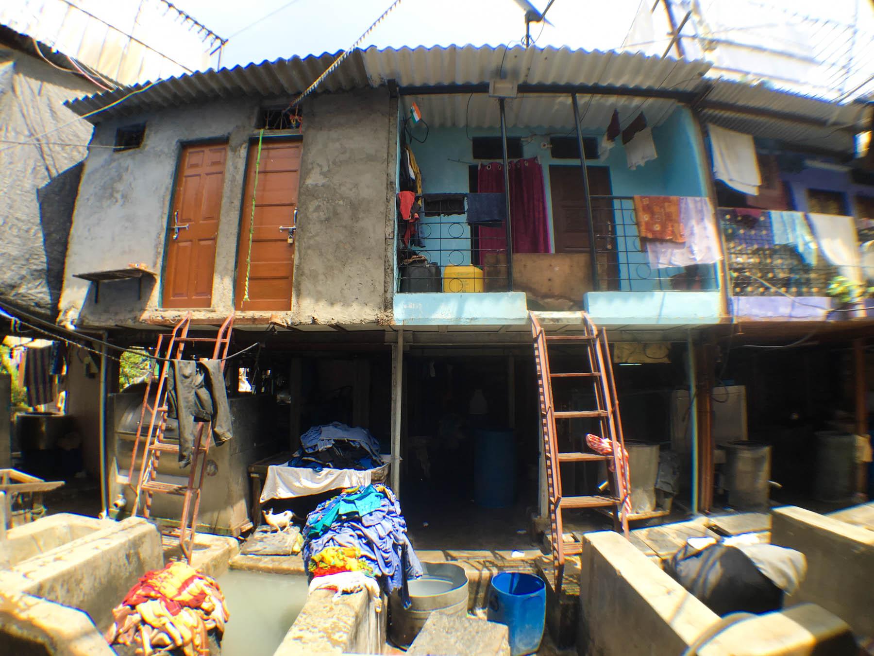 ムンバイ 巨大洗濯工場 ドービーガート 家家