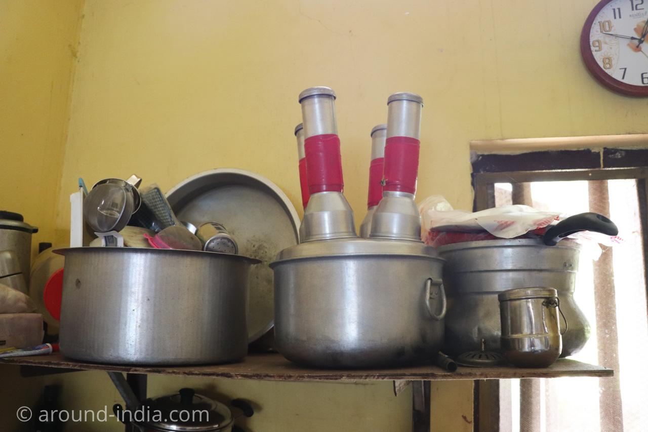 ケララ料理プットゥー蒸し器アルミ アーユルヴェーダ病院