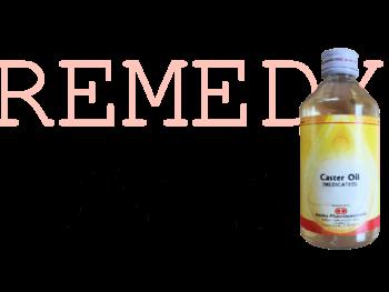 レメディ、ひまし油とラップ