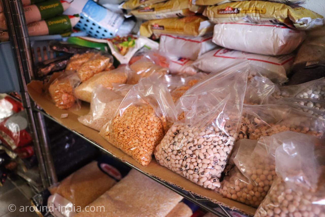 レカの販売コーナー 豆