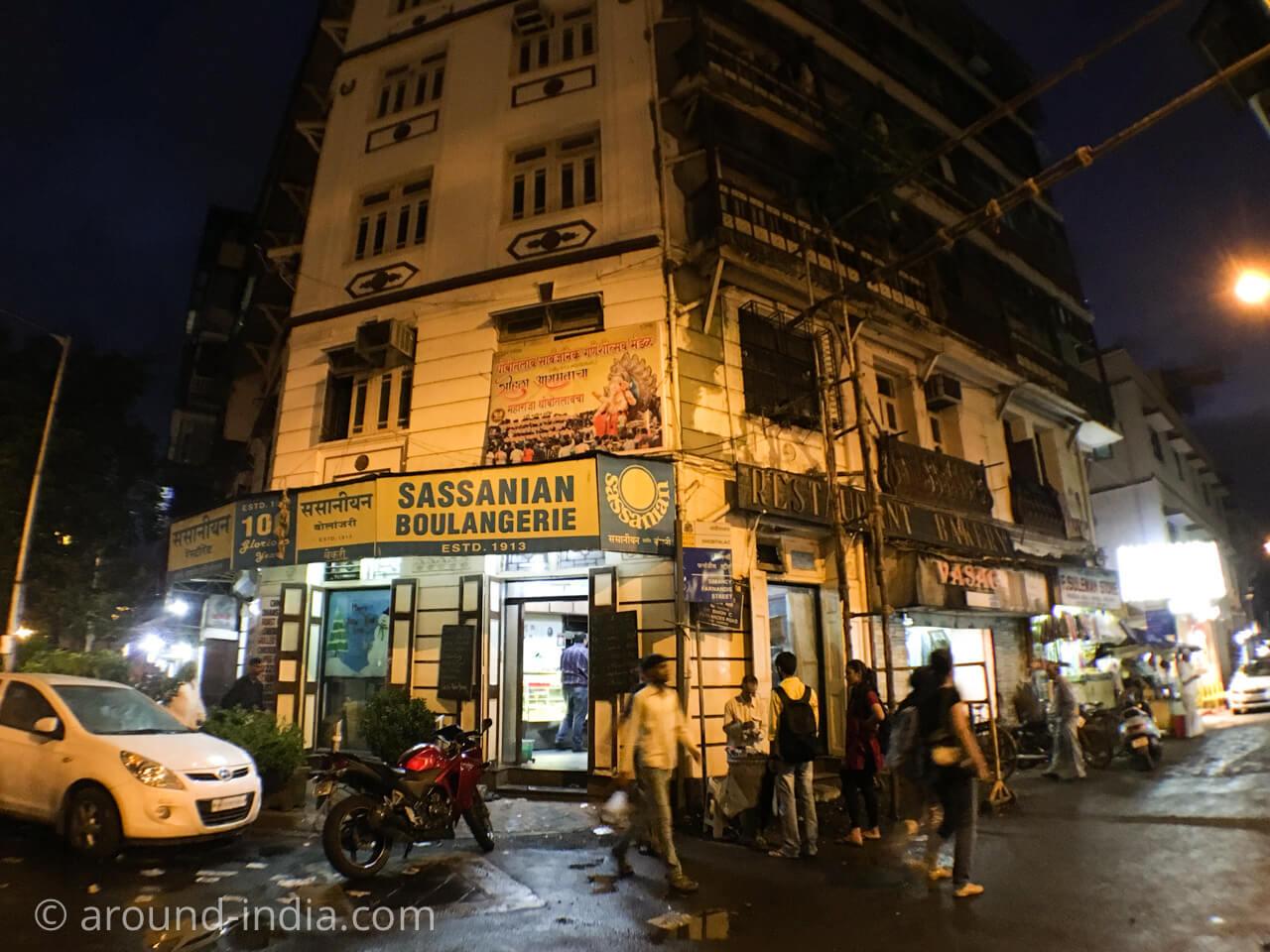ムンバイのイラニカフェ サッサニアンの外観