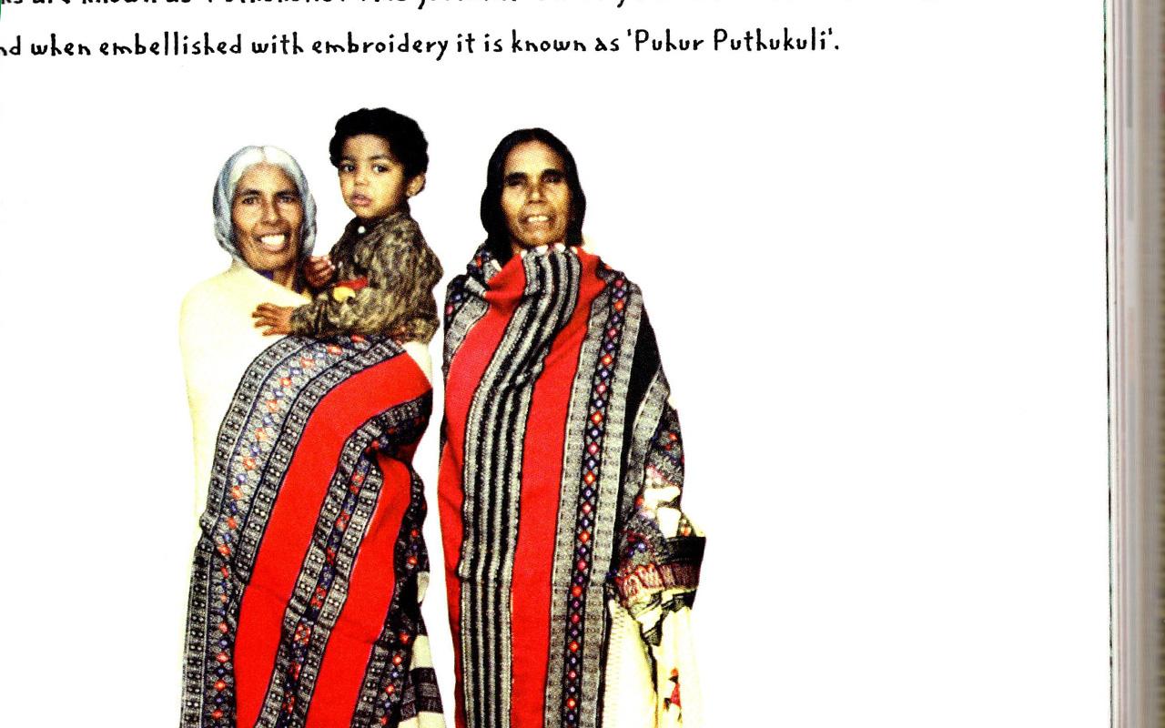 Ethnic Embroidery of India本で見かけたインド・トダ族!