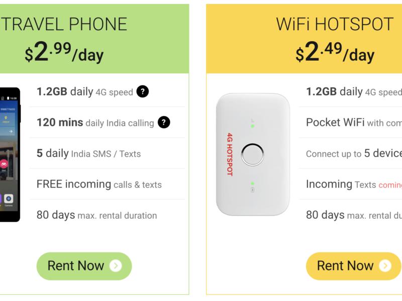 Trabugインド携帯レンタルプラン