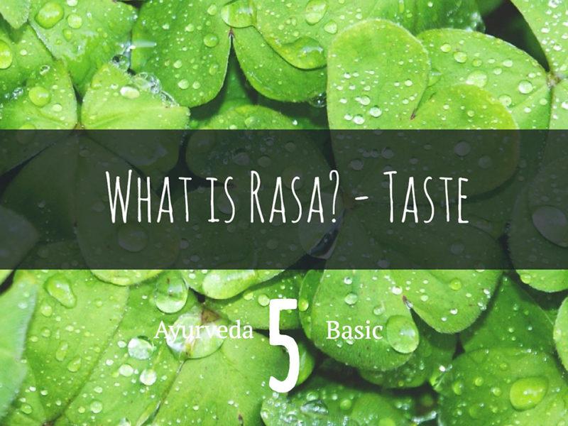 アーユルヴェーダの基本 6つの味ラサとは